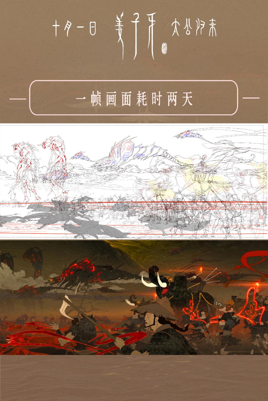 二维线稿与成片对比-Renderbus【云渲染农场】