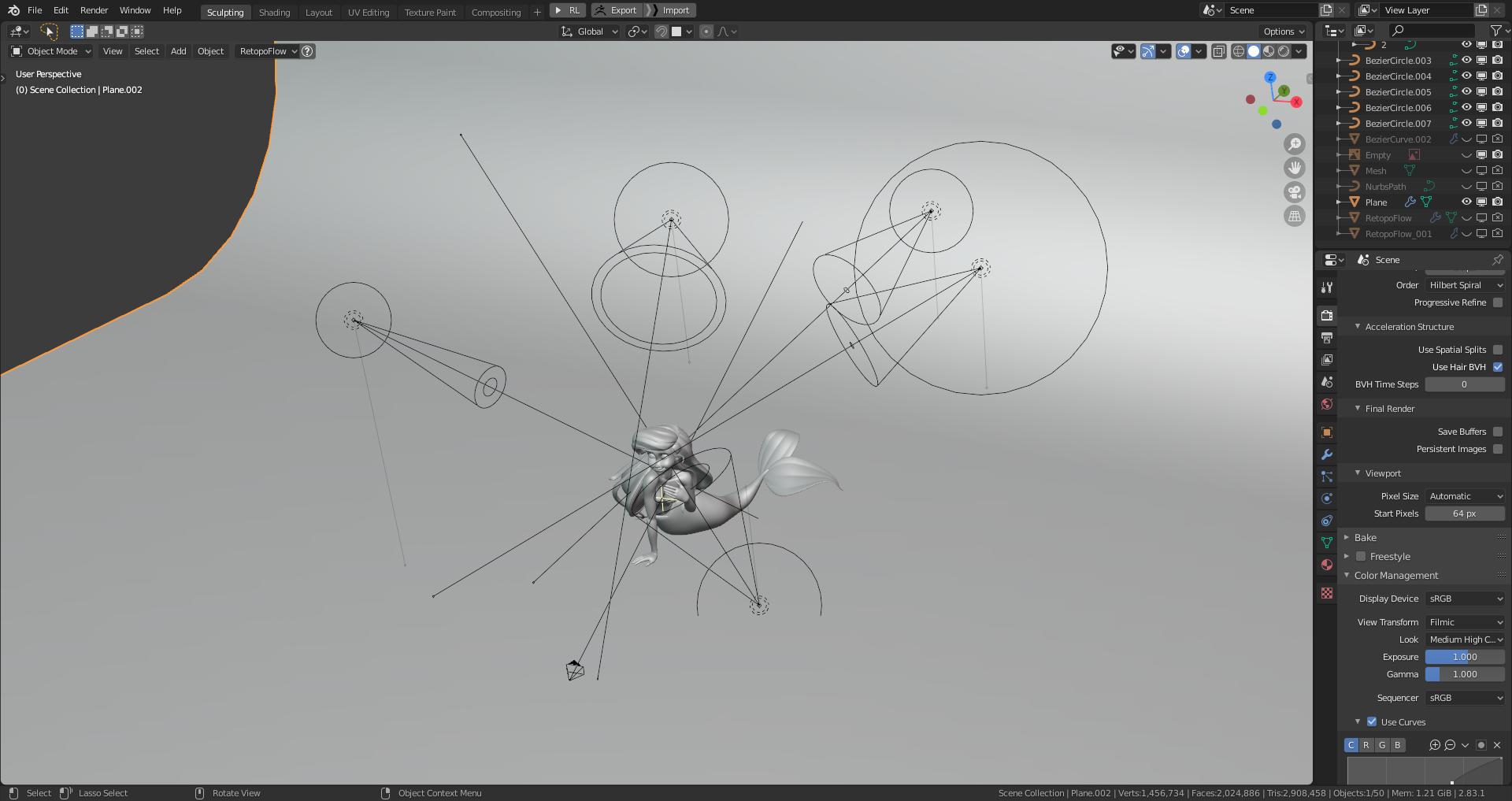 Blender制作教程:打造迪士尼小美人鱼-灯光设置_Renderbus自助渲染农场