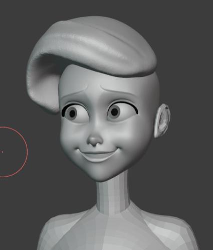 Blender制作教程:打造迪士尼小美人鱼-脸部细节_Renderbus自助渲染农场