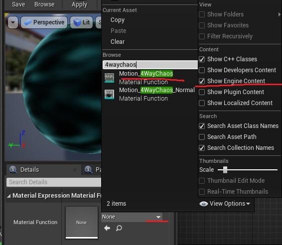 """虚幻中的""""材质编辑器""""中的4WayMotionChaos函数创建了苛性着色器"""