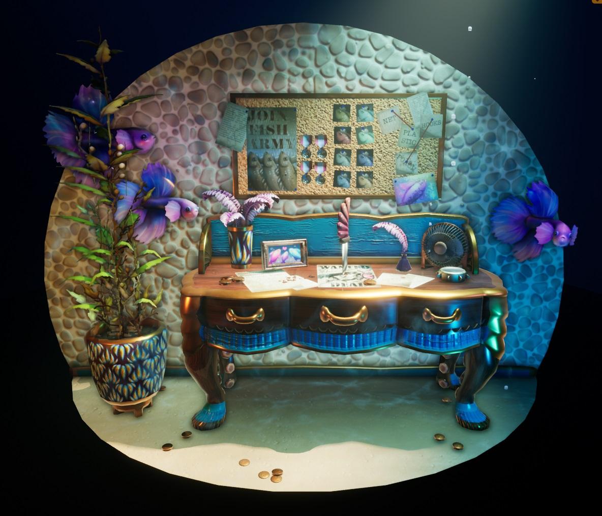 船长的桌子: 在UE4中制作水下透视图