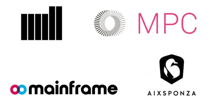 The Mill, MPC, Mainframe, Aixsponza等制作/视效工作室