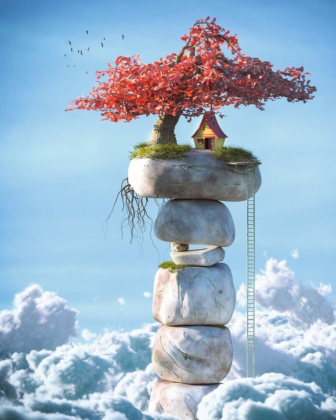 在Blender中制作梦幻天空参考图 - 瑞云渲染