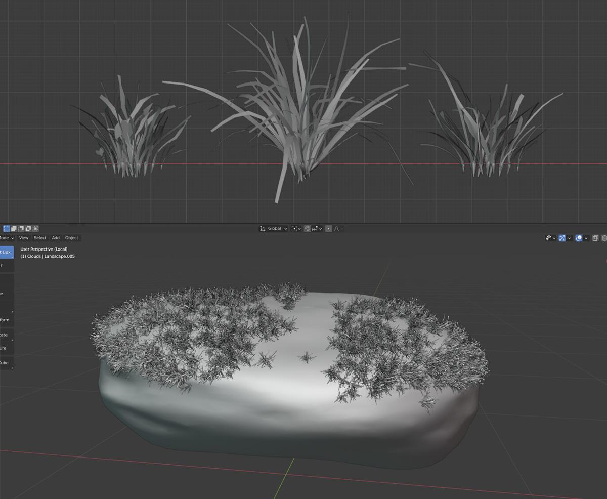 模拟草的制作 - 瑞云渲染