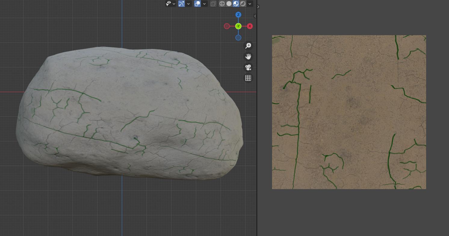 岩石和木材纹理设置 - 瑞云渲染