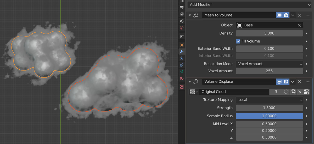 云彩模型制作 - 瑞云渲染农场