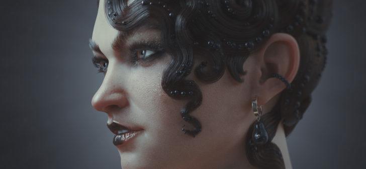 在ZBrush和Blender中制作卷发角色