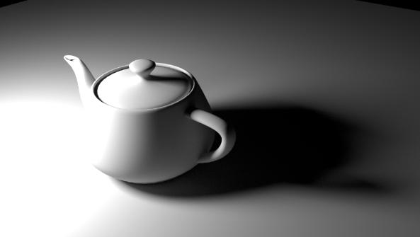 用于生成烘焙光照贴图纹理的原始场景。在 11 秒内渲染。