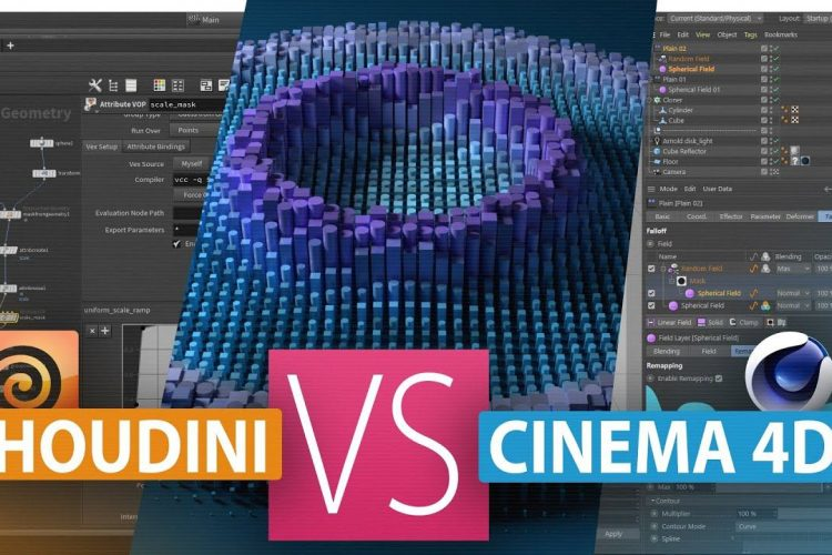 Houdini vs Cinema 4D,哪个效果更好