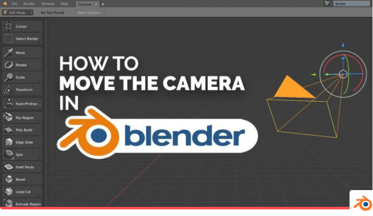 如何在Blender中移动相机?