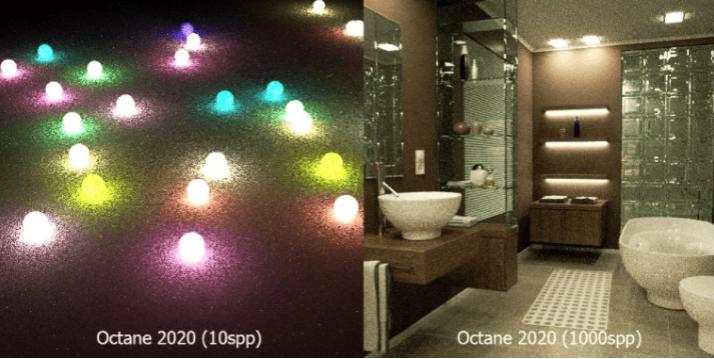 Octane Render新功能 - 两倍快的光采样器