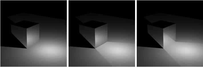 漫反射平面上的反射立方体-瑞云渲染农场